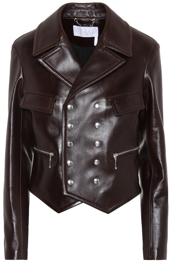 3e9d9cb7 Leather biker jacket