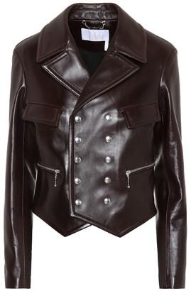 Chloã© Leather biker jacket
