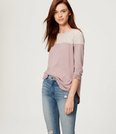 LOFT Colorblock Shirttail Tee