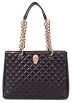 Philipp Plein Women's Black Leather Shoulder Bag.