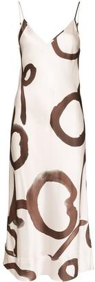 Lee Mathews Bella floral print silk dress