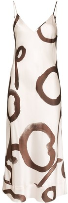 Lee Mathews Bella floral print silk dress