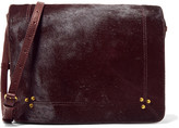 Jerome Dreyfuss Igor Calf Hair And Leather Shoulder Bag - Burgundy