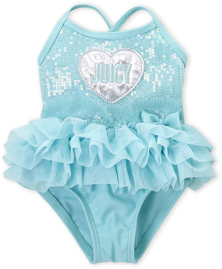 Juicy Couture Infant Girls) Sequin Tutu One-Piece Swimsuit