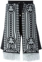 Andrea Crews 'Sling Silver' scarf detail shorts