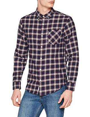 Original Penguin Men's Plaid Flannel Shirt Casual,Medium (Size: M)