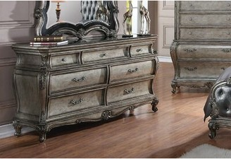 Rosdorf Park Wolfgang 7 Drawer Double Dresser Color: Antique Platinum