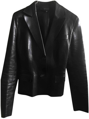 Gucci Black Leather Jackets