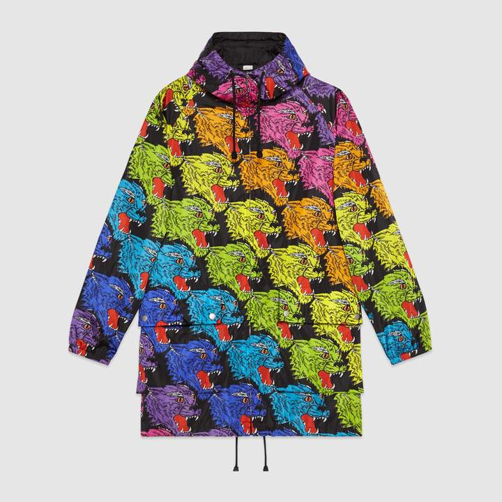 Gucci Panther face nylon jacket