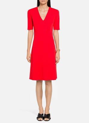 St. John Milano Knit V-Neck Dress