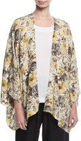 eskandar Floral-Print Silk Jacket