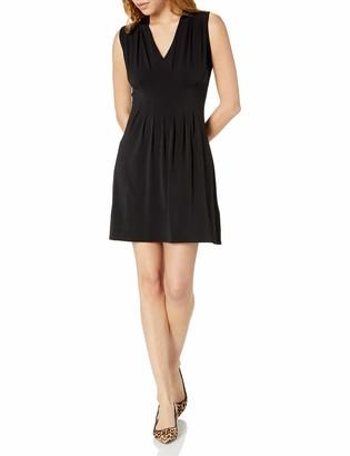Tiana B T I A N A B. Women's Sleeveless V-Neck Inverted Pleat Front Dress
