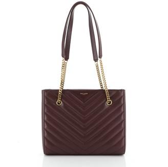 Saint Laurent Tribeca Shopping Tote Matelasse Chevron Leather Small