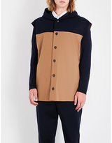 Marni Contrast-panel Hooded Stretch-wool Gilet