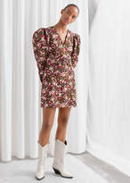 And other stories Floral Puff Sleeve Mini Dress