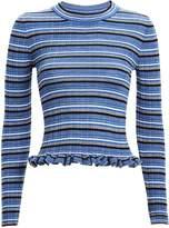 Derek Lam 10 Crosby Lilika Striped Rib Knit Top