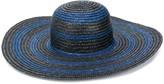 Paul Smith striped print straw sun hat