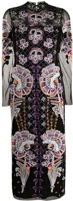Temperley London Embroidered-Design Midi Dress