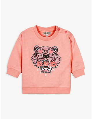 Kenzo Heart eye tiger-embroidered cotton sweatshirt 6-36 months