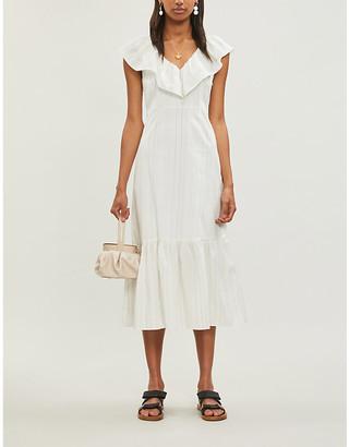 Claudie Pierlot Roucas frill-trimmed crepe dress