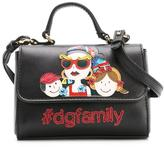 Dolce & Gabbana Family appliqué shoulder bag - kids - Leather - One Size
