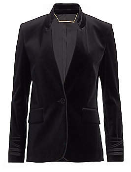 Frame Women's Soutache-Trim Velvet Jacket - Size 0
