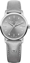 Maurice Lacroix Women's 'Eliros' Swiss Quartz Stainless Steel and Leather Casual Watch, Color:Grey (Model: EL1094-SS001-250-1)