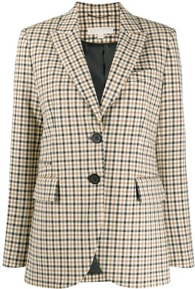 MICHAEL Michael Kors Checked Single-Breasted Blazer