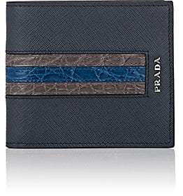 b07454771e33 Prada Saffiano Blue Wallet Men - ShopStyle