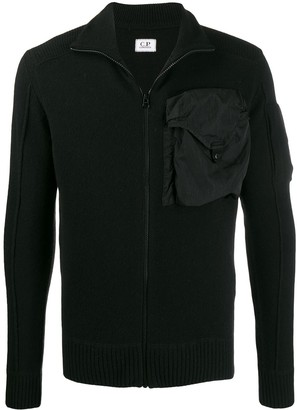 C.P. Company chest pocket slim-fit cardigan