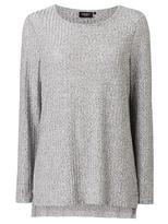 Jeanswest Kaylee Metallic Long Sleeve Top-Light Grey Marle-XS
