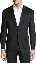 Neiman Marcus Cashmere Two-Button Blazer, Black