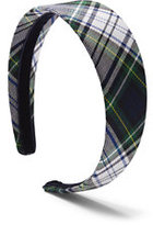 Classic Girls Plaid Headband-White Plaid