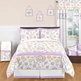 JoJo Designs Sweet Suzanna 3-Piece Full/Queen Comforter Set in Lavender/White