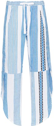 Lemlem Mizan tie waist striped trousers