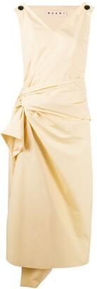 Marni draped mid-length dress