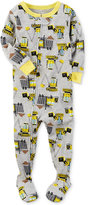 Carter's 1-Pc. Construction-Print Footed Pajamas, Baby Boys (0-24 months)