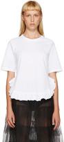 Simone Rocha White Ruffled T-Shirt