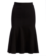 Three Dots Black Trumpet Skirt