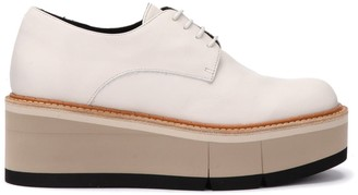 Paloma Barceló Lace-up Shoe In Butter-colored Leather With Two-tone Rubber Sole