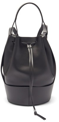Loewe Balloon Anagram-logo Drawstring Leather Backpack - Black