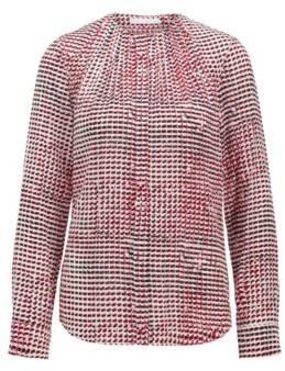 HUGO BOSS Printed Blouse In Silk Crepe De Chine - Patterned