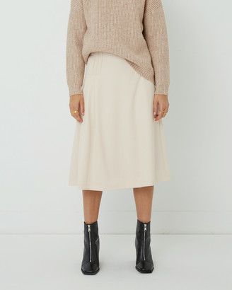 FRIEND of AUDREY - Women's Neutrals Pleated skirts - Pernille A-line Skirt - Size One Size, 8 at The Iconic