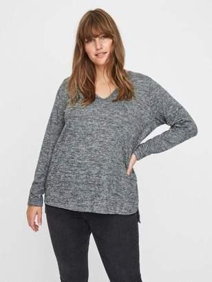 Junarose Asra Long Sleeve Knit Sweater in Medium Gray Melange Size XL-5