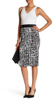 Milly Cady Scribble Print Pencil Skirt