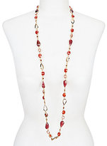Anne Klein Long Faceted Stone Necklace