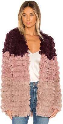 MinkPink Lost Weekend Faux Fur Coat
