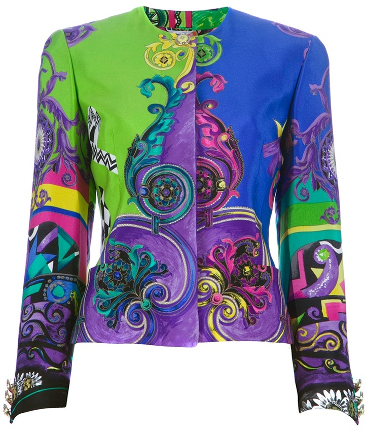 Versace Gianni Vintage printed couture jacket