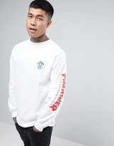Huf X Thrasher Long Sleeve T-shirt With Arm Print
