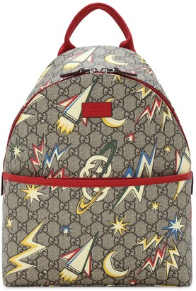 Gucci Gg Supreme Space Printed Canvas Backpack